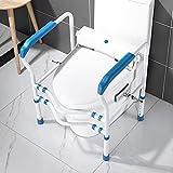SXV Toilettengestell Clip-On Einstellbare WC Reling Lehrstuhl for Ältere Behinderte Badezimmer, Badewanne Aluminiumlegierung Anti-Rutsch-Assist Haltegriffe -