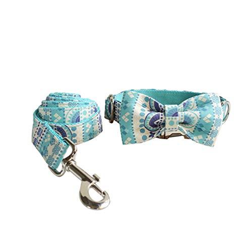 N / A Correa Suave y Cómoda para Mascotas y Collar de Pajarita para Mascotas de Estilo Creativo para Perros y Gatos (Style#2, S)