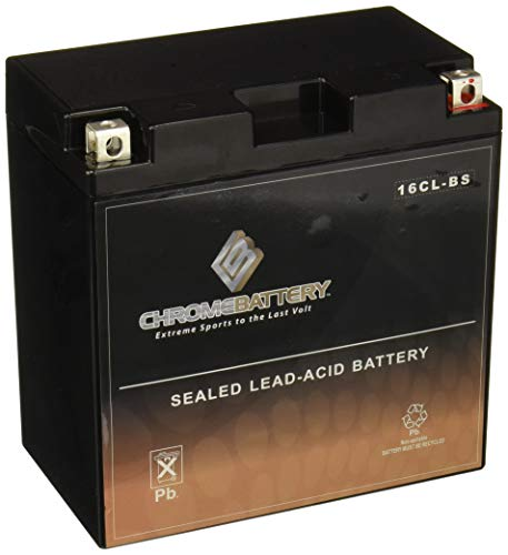 Chrome Battery YB16CL-B Battery - Rechargeable, High Performance Power Sports, Factory Sealed, Durable, 240 CCA