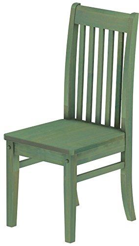 Brasilmöbel, 2 x eetkamerstoel, variant en kleur naar keuze, eetkamerstoel, klassiek, massief hout, echt hout, stoel, hout, woonkamerstoel, leuning, keukenstoel, landhuis Rustiek Classico 112 bamboe mintgroen
