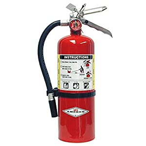 Amerex B402, 5lb ABC Dry Chemical Class A B C Fire Extinguisher, with Bracket