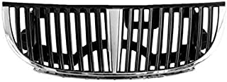 Partomotive For 98-02 TownCar Front Face Bar Grill Grille Assembly Chrome FO1200349 XW1Z8200AA