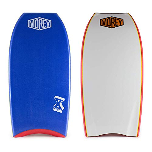 Morey Pro Series Mach 10 | 40 Inch Bodyboard | X-Flex Polypro Core & Mesh | Single Power Rod Stringer | Slick Bulbs & Crescent Tail | Surfboard for Ocean, Sea, River, Pool (40