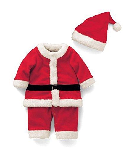 Deyou Bambino Babbo Natale dei Ragazzi delle Neonate costano l'abito di Natale degli Abiti di Costume del Natale