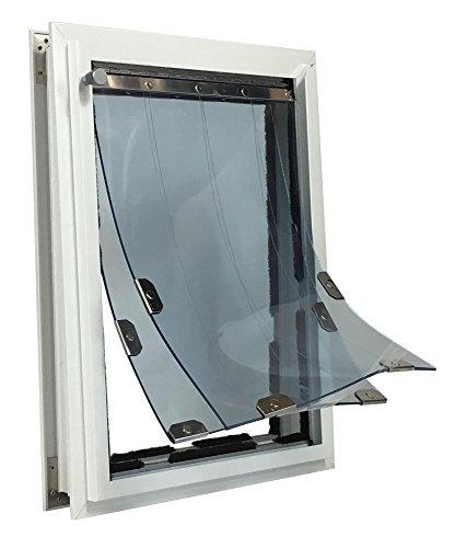 """Security Boss MaxSeal PRO Pet Door for Doors - Tall 11"""" x 20"""" - Dual Flap"""