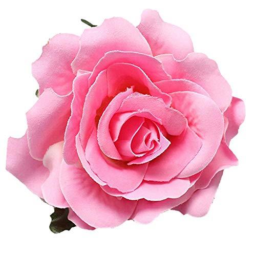 Yazilind Rose Fleur /Épingle /À Cheveux Coiffure Rouge Mariage Tiare de Mode Feuille dor Cheveux Ornement Femmes Bijoux 1 pcs