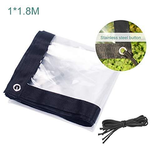 Asdomo Bâche de protection transparente imperméable et résistante pour la maison - Qualité supérieure - Avec corde de 5 m