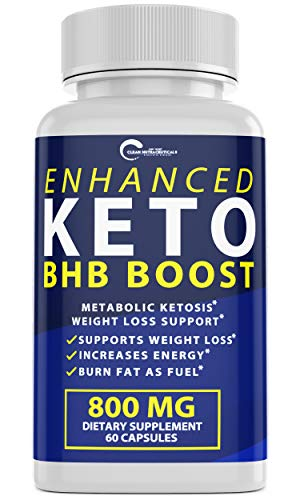 Enhanced Keto BHB Boost Pills, 800mg for Weight Loss, Keto BHB Pills for Energy, Focus, Metabolism Boost - Premium Advanced Powder Exogenous Ketones for Rapid Ketosis Diet for Men Women (1-Pack) 1