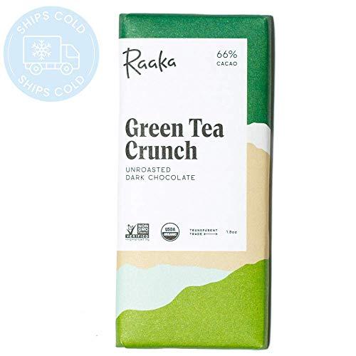 Raaka 66% Green Tea Crunch ラーカ チョコレート グリーンティークランチ