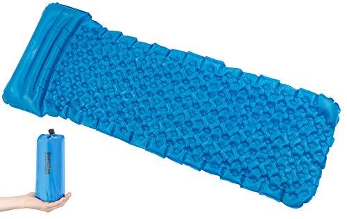 SEMPTEC Matelas Gonflable léger avec Oreiller intégré - Turquoise