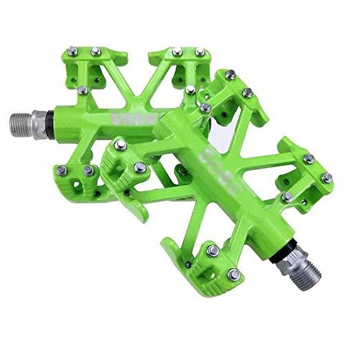 XYXZ Pedales de Plataforma de Bicicleta Pedal de Bicicleta de aleación de magnesio, rodamientos sellados con husillo de Rosca de 9/16 Pulgadas, Antideslizante, Duradero, Ultraligero, Pedal d