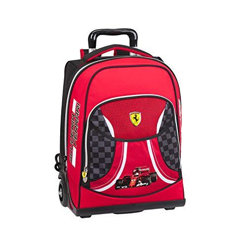 Zaino Organizzato Trolley Premium Ferrari Kids, Multicolore