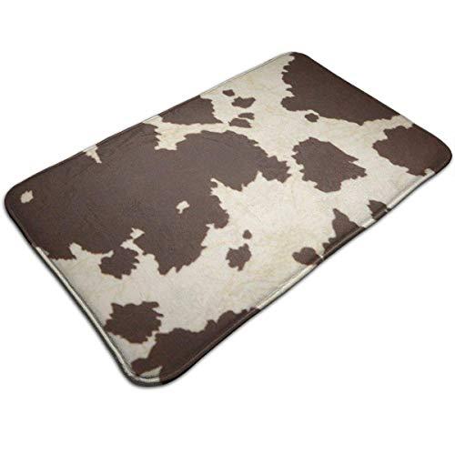 Cow Fur Print Print Door Mat Bath Mat Entrance Mat Floor Mat Rug Indoor/Outdoor/Front Door/Bathroom Mats Rubber Non Slip 50cm*80cm