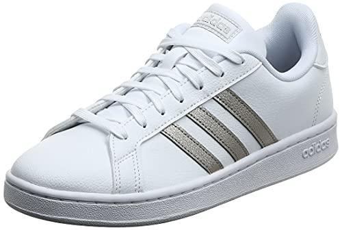 Adidas Grand Court, Damen Hallenschuhe, Mehrfarbig (Ftwbla/Metpla/Ftwbla 000), 41 1/3 EU (7.5 UK)