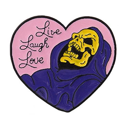 TOSSPER 1pc En Forma De Corazón Broche Broche De La Bruja De Halloween Cráneo Pernos De La Solapa La Insignia De Pasamanería Ropa Joyería para Mujeres