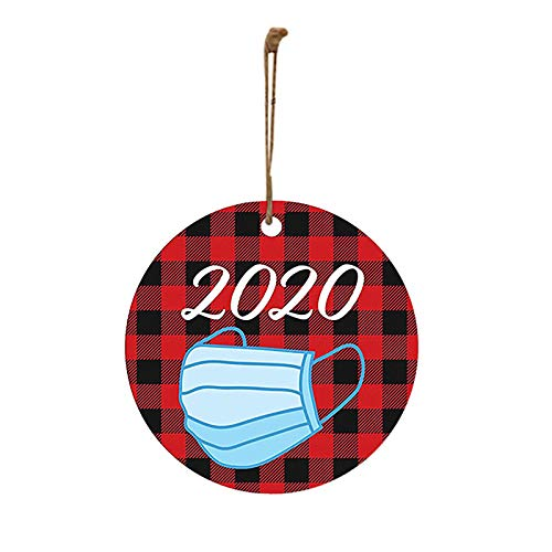 Sujing Christmas Ornament 2020/XMAS Decorations,Peace & Happiness Decorations ,More Choices (2020 Blue Mask)