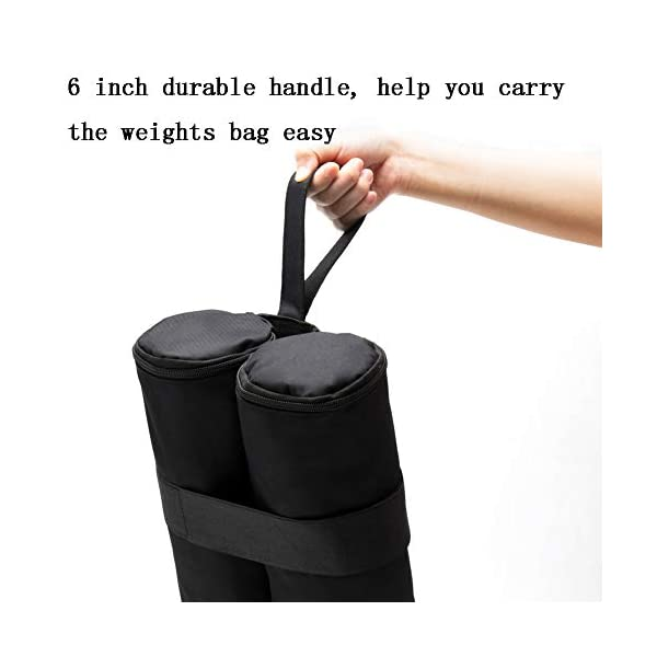 RZMAYIS Large Size 4 Pack Industrial Grade Weight Bags, All Seasons Gazebos Weights, Garden Party Outdoor Tent Leg…