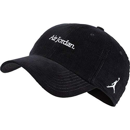 Nike Jordan H86Corduroy cap Berretto da Tennis, Unisex Adulto, Unisex Adulto, AA5744, Nero/Bianco, Taglia Unica