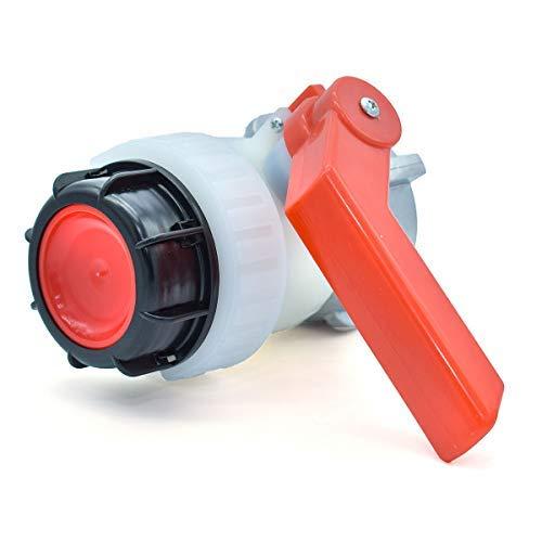 Multitanks - Válvula de bola tipo A de 2 pulgadas con tuerca flotante de 70 mm para cubeta Schutz