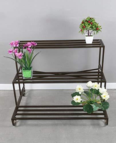 Support à plantes Décoration de jardin Fleur de fer Rack, à trois niveaux Ladder Flowerpot rack de style européen de haute qualité Bonsai Cadre Balcon Flowerpot mur de fer étagères fleur (Taille: A-93