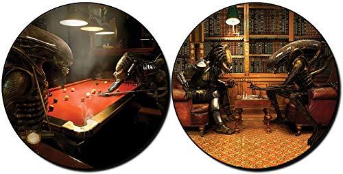 MasTazas Alien Vs Predator Jugando Billar Playing Pool AVP Ajedrez Chess Posavasos x4 Coasters