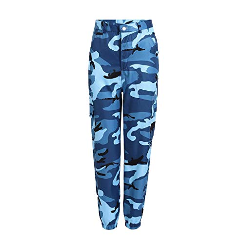 Damskie kamuflaż dżinsy bojówki spodnie z nogawkami festiwal wypoczynek moda kieszenie wojskowe bojowe dżinsy moda damska vintage spodnie na co dzień