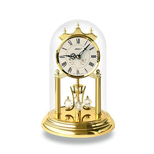 SELVA Haller Fleur - Reloj de cuarzo con diseño de flor – Un momento brillante – Fabricado en Alemania – Equipado con cristales Swarovski originales – Tapa de cristal (tamaño: 23 x 15 cm)