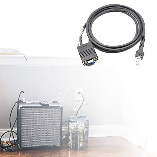 Emilyisky LS2208 Cable Serie RS232 CBA-R01-S07PAR para escáner de código de Barras de símbolo 6 pies Gris