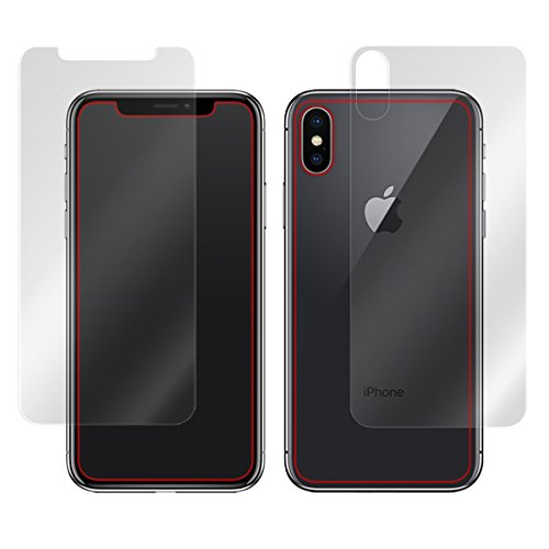 日本製 指紋が目立たない 反射防止液晶・背面保護フィルムセット iPhone X OverLay Plus OLIPHONEX/S/12