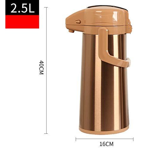 Jingyinyi pneumatische thermoskan, huishoudelijke isolatiepot, druk op de ketel, grote capaciteit en duurzaam, Geel