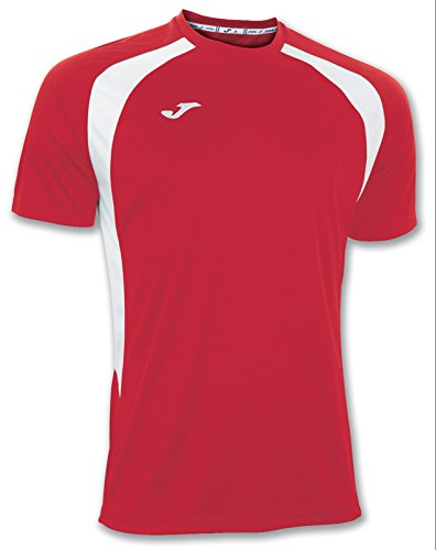 Joma 100014.602 - Camiseta de equipación de Manga Corta para Hombre, Color Rojo/Blanco, Talla XS ⭐