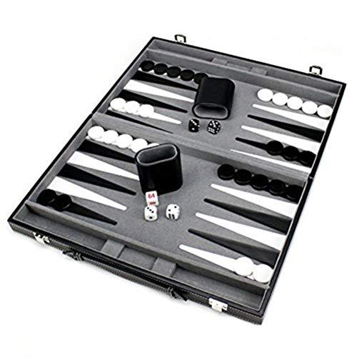 Smosyo Juego de Backgammon Maleta de Backgammon Fantástico Juego de Mesa de Estrategia Juego de Viaje de Backgammon de Madera Juegos de Viaje para Adultos y niños