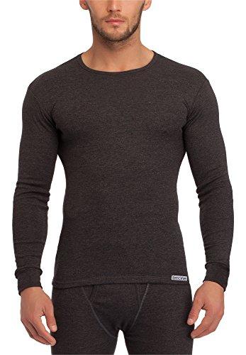 Timone Camisetas Mangas Largas Ropa Térmica Hombre(Melange Oscuro, M)