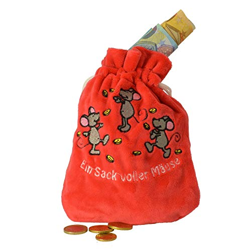 Michel Toys MT Geldsack, 19,5x14,5cm, in rot super Soft Velboa