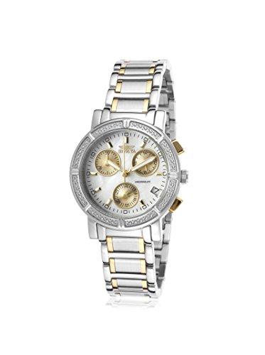 Invicta 4770 Women's Wildflower MOP White Dial Two Tone Bracelet Chronograph Watch