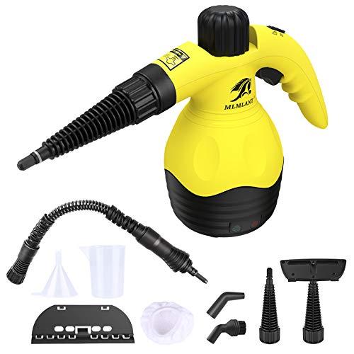 MLMLANT Limpiadores Maquinas vapor manual desinfeccion mano vaporetas limpiar limpieza hogar, multiusos, 9 accesorios sofá, baño, cocina,piso,ventana, alfombras,cortinas,asientos automóvil,tapicería