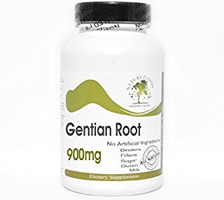 Gentian Root 900mg ~ 90 Capsules - No Additives ~ Naturetition Supplements