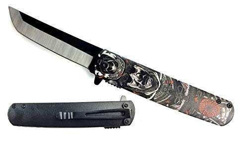 Japanese Culture Style Folding Pocket Knife. for Collection, Gift, Hunting, Camping and Daily Used