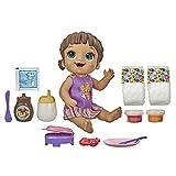 Baby Alive Petit déjeuner Time Poupon avec gaufrier, Accessoires, Boissons, mouillés, mangeurs, Jouet à Cheveux Marron pour Enfants à partir de 3 Ans