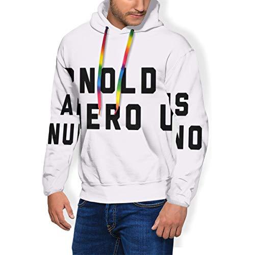 NUASGFB Arnold Schwarzenegger Arnold is Numero Uno, Camión Cap WhiteBlack Sudadera de Moda para Hombre con Capucha con Bolsillos y Terciopelo Negro Negro (L