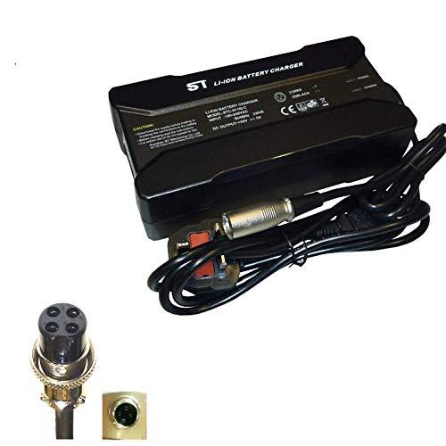 Powatechnic Cargador de batería de Litio 36V-42V 5A para Bicicletas eléctricas, Scooters, sillas de Ruedas y más! (PAJ 4 Pin)