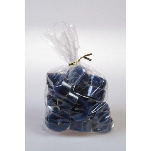 20 original Dänische Teelichter ohne Duft im Acryl-Cup farbig durchgefärbt dunkel blau