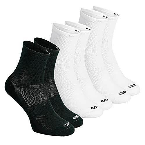 LIUFS Calcetines Deportivos para Hombres y Mujeres Medias de Baloncesto Profesionales Primavera Calcetines para Correr maratón de Entrenamiento físico [6 Pares]