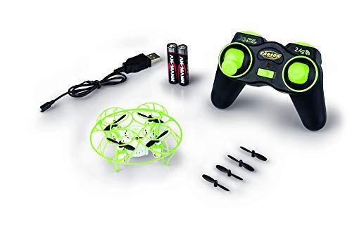 CARSON 500507133 - X4 Quadcopter NANO Cage 2.4G 100% RTF, Ferngesteuerte Flugmodelle, flugfertiges Modell, RC Quadcopter/ Drohne, inkl. Batterien und Fernsteuerung, 100% flugfertig, 2,4 GHz