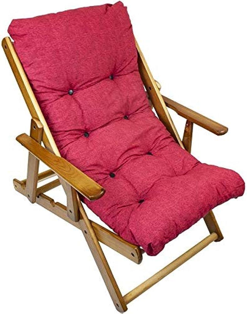 Maury`s poltrona sdraio reclinabile harmony relax comodona in legno 3 posizioni con cuscino imbottito 0432590