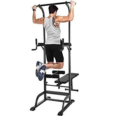 Shirt Luv Power Tower Dip Station Pull Up Bar for Home Gym Strength Training Workout Equipment