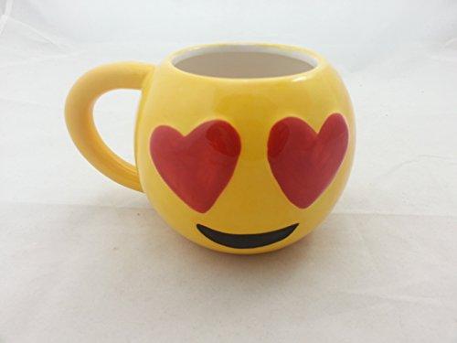Mark Feldstein Cool Mug - Yellow Smiley Face with Hearts