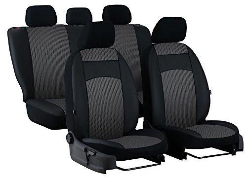 POKTER-ROYAL Paßgenaue Sitzbezüge Royal für Golf VII Sportsvan ab 2013. Stoff mit Kunstleder. in Diesem Angebot Grau.
