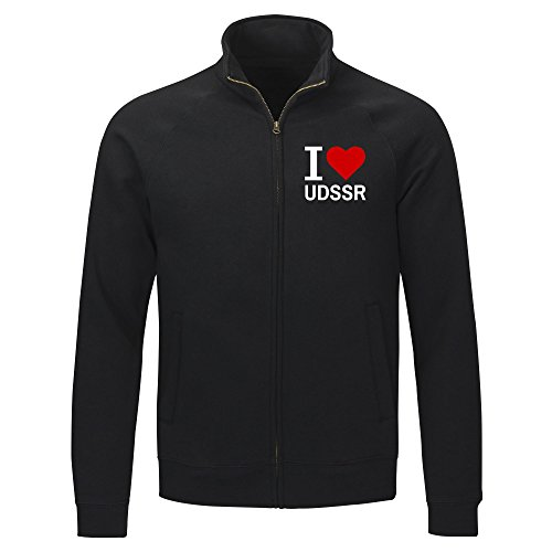 Multifanshop Sweatshirt Jacke Classic I Love UDSSR - schwarz - Größe S bis 2XL, Größe:XXL