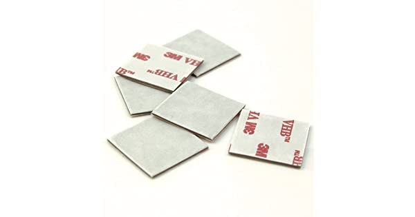 45 mil Thick Dark Grey Liner 1 Length 1 Width Double-Sided VHB Acrylic Adhesive Pack of 6 CS Hyde 3M 4941 Very High Bond Conformable Acrylic Foam Tape
